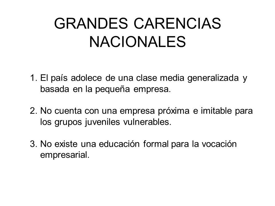 GRANDES CARENCIAS NACIONALES