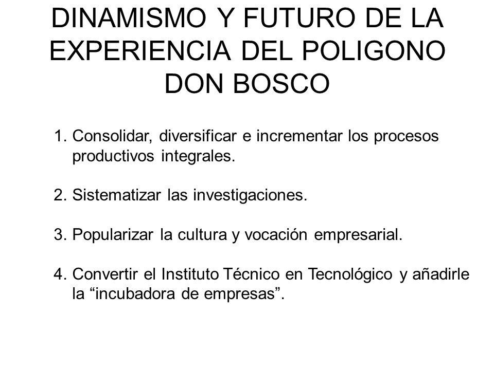DINAMISMO Y FUTURO DE LA EXPERIENCIA DEL POLIGONO DON BOSCO