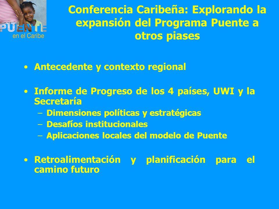 Conferencia Caribeña: Explorando la expansión del Programa Puente a otros piases
