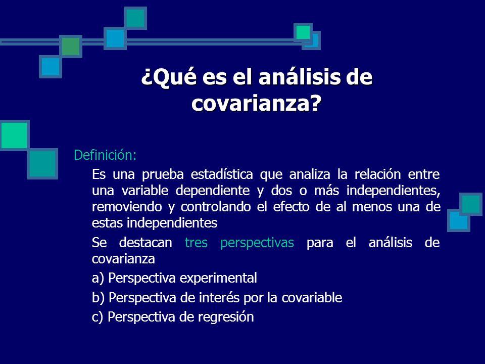 ¿Qué es el análisis de covarianza