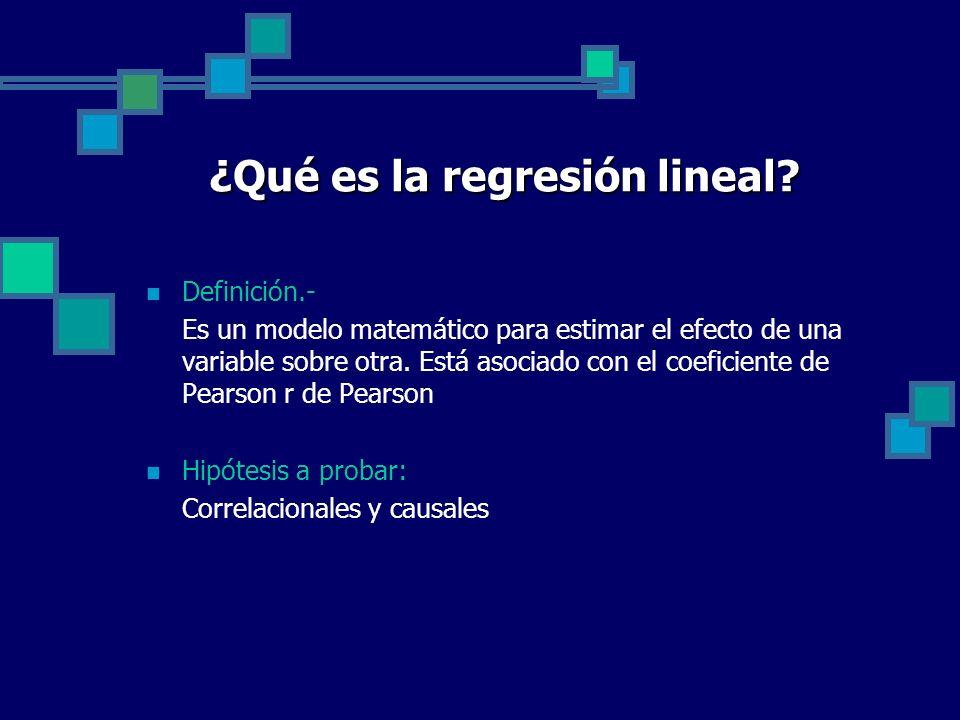¿Qué es la regresión lineal