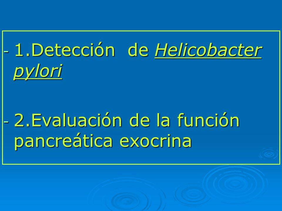 1.Detección de Helicobacter pylori
