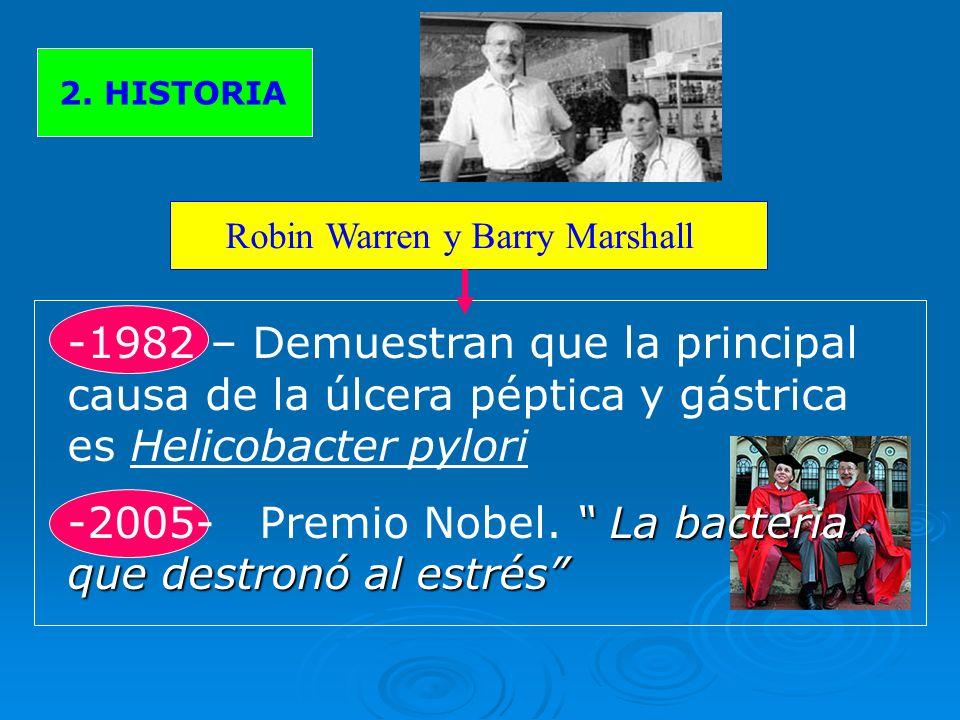 -2005- Premio Nobel. La bacteria que destronó al estrés