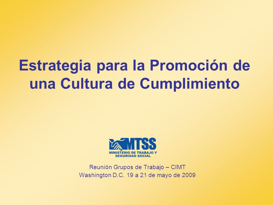 Estrategia para la Promoción de una Cultura de Cumplimiento