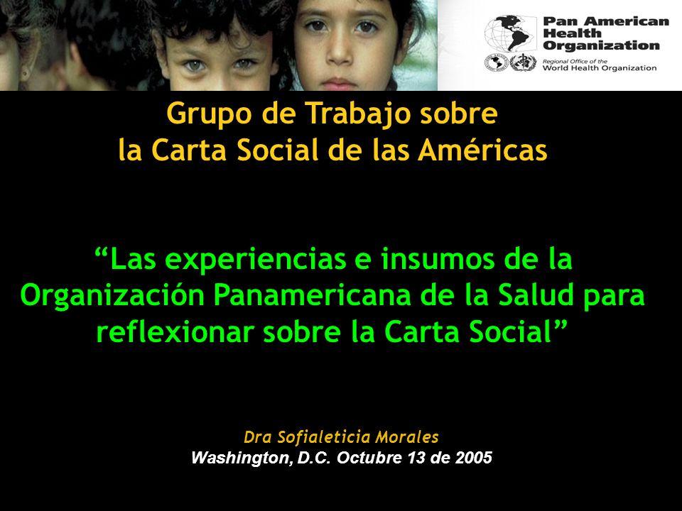 la Carta Social de las Américas