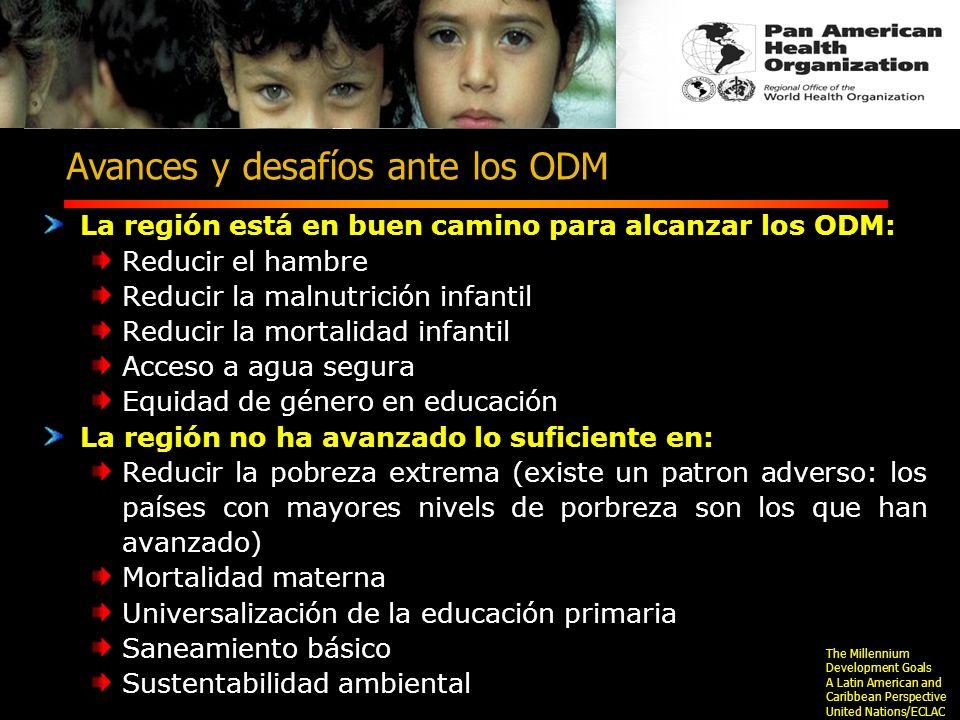 Avances y desafíos ante los ODM