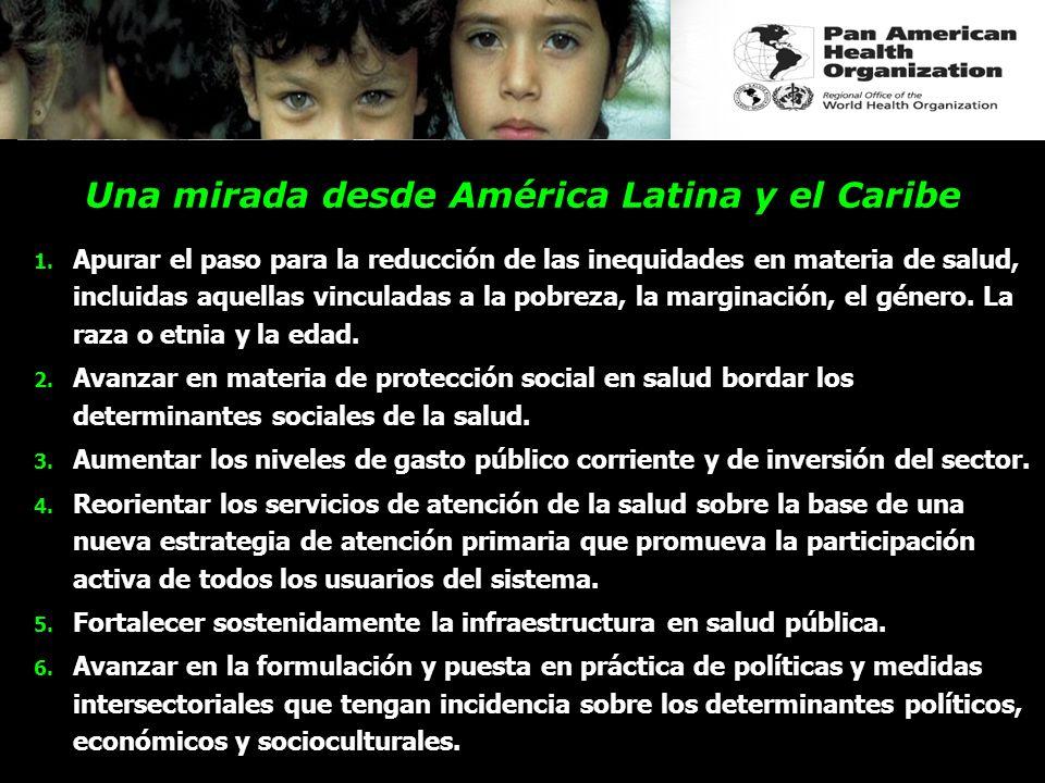Una mirada desde América Latina y el Caribe