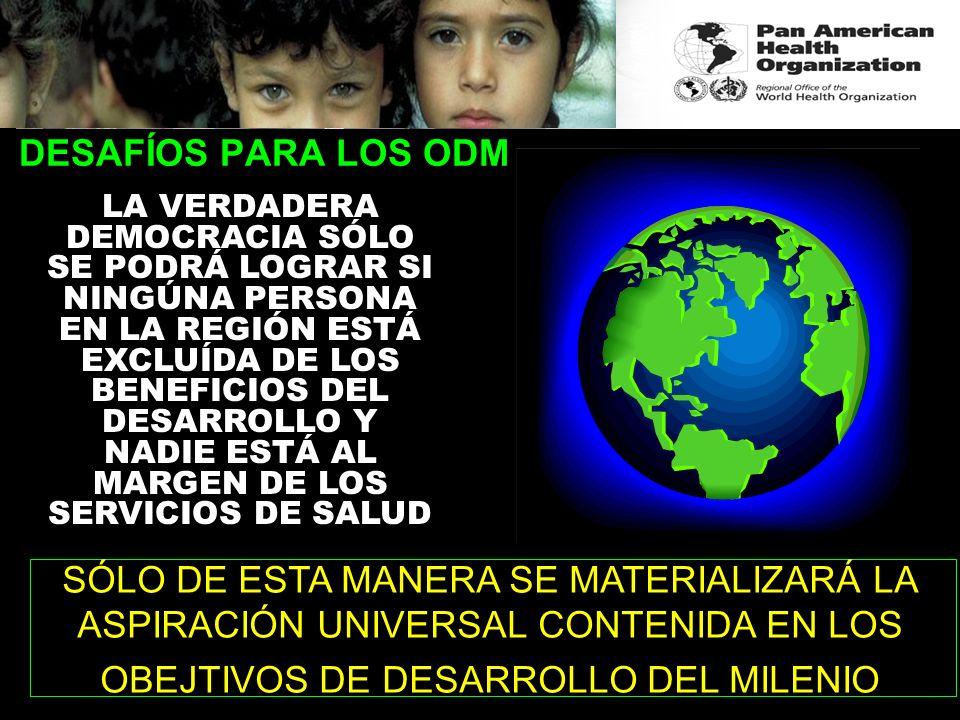 DESAFÍOS PARA LOS ODM