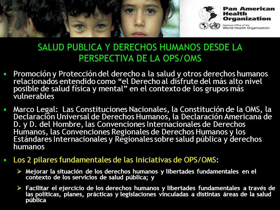 SALUD PUBLICA Y DERECHOS HUMANOS DESDE LA PERSPECTIVA DE LA OPS/OMS