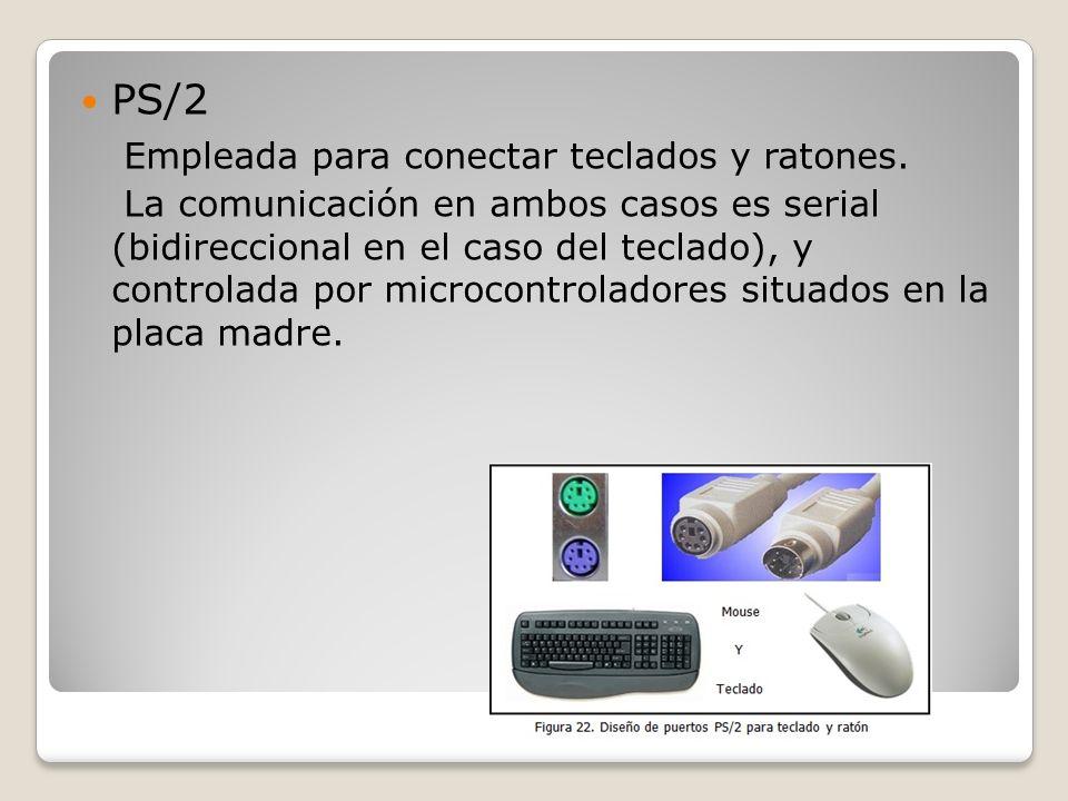 Empleada para conectar teclados y ratones.