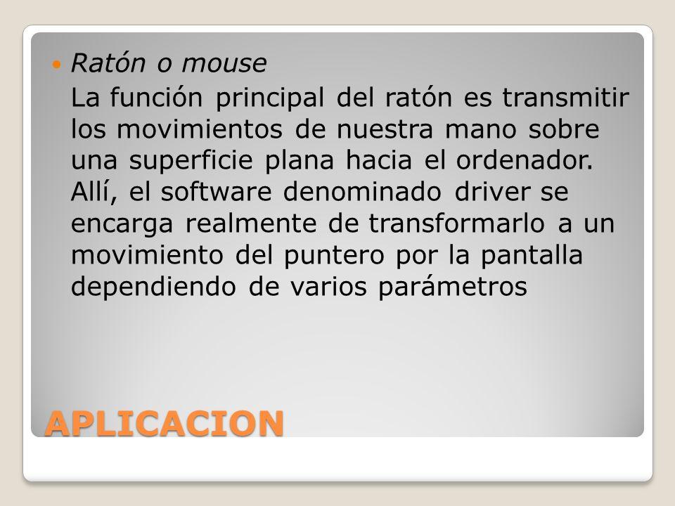 APLICACION Ratón o mouse