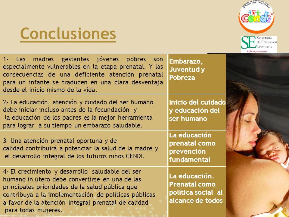 Conclusiones Embarazo, Juventud y Pobreza