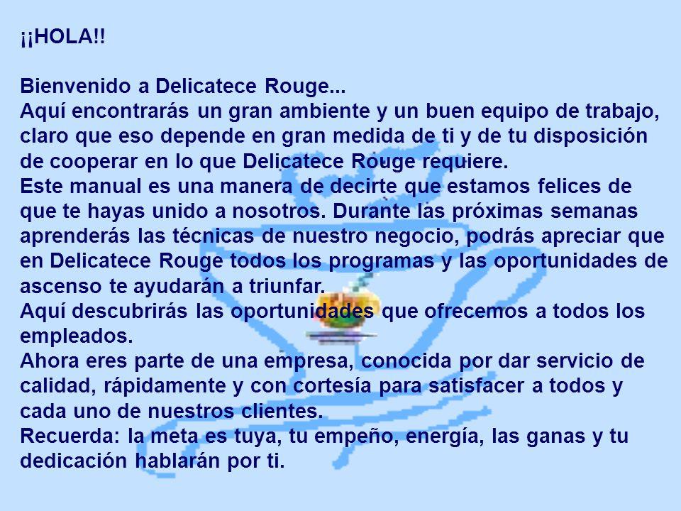 ¡¡HOLA!! Bienvenido a Delicatece Rouge...