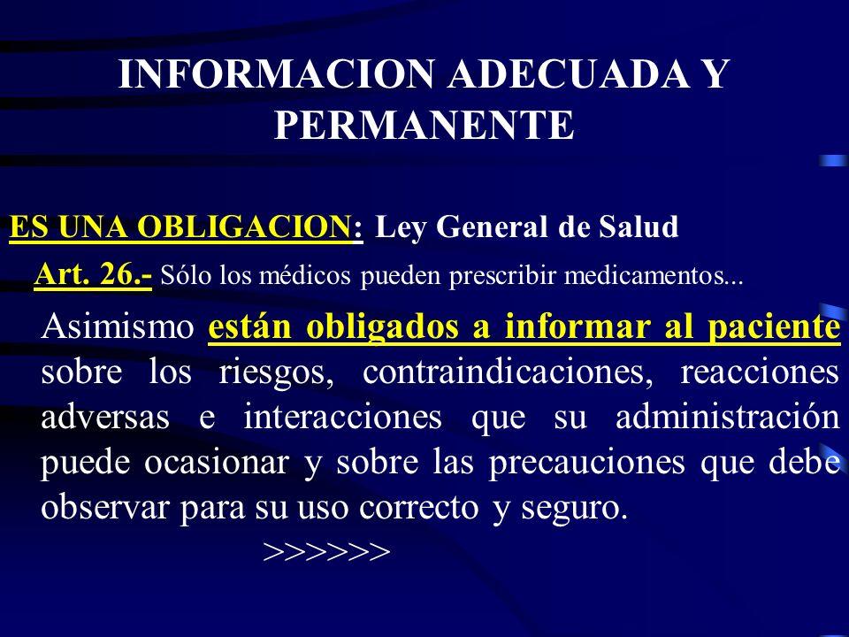 INFORMACION ADECUADA Y PERMANENTE
