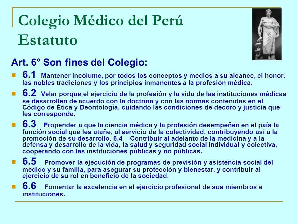Colegio Médico del Perú Estatuto