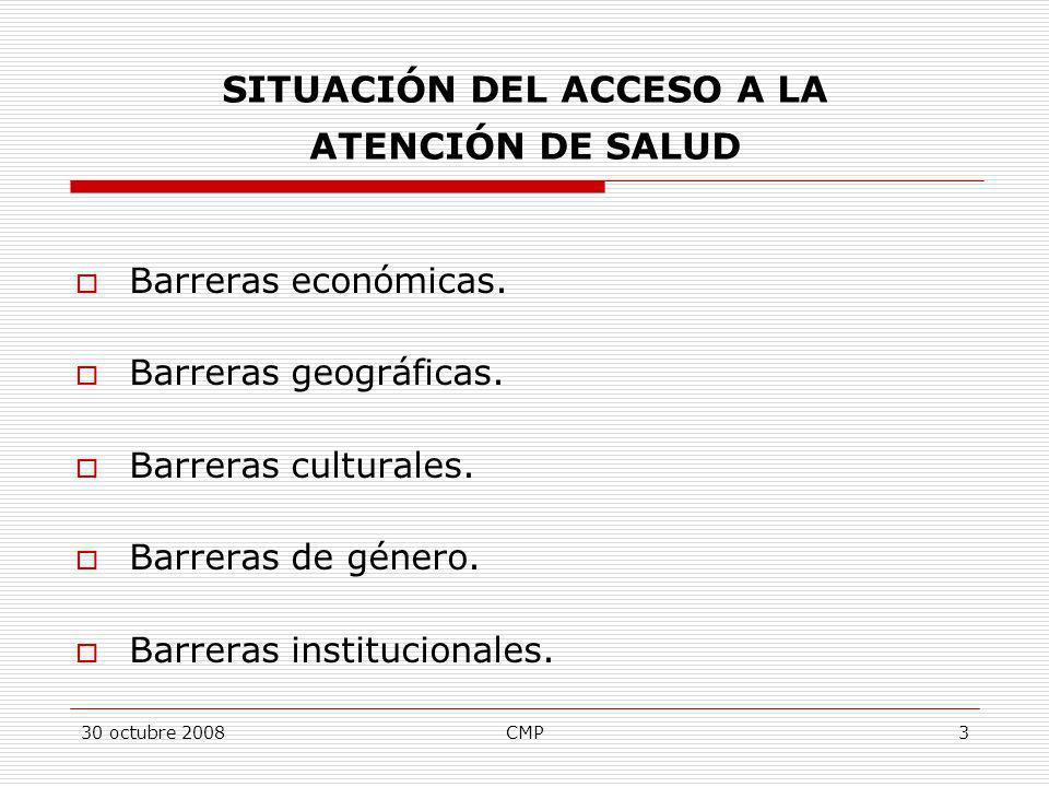 SITUACIÓN DEL ACCESO A LA ATENCIÓN DE SALUD