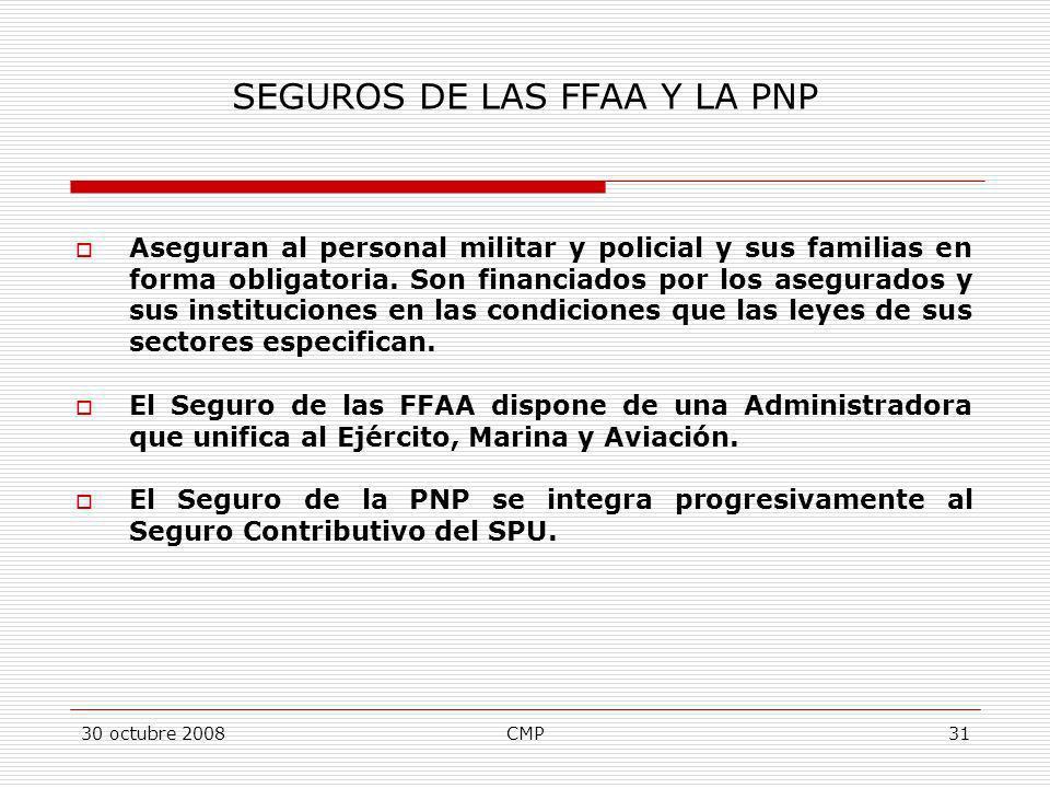 SEGUROS DE LAS FFAA Y LA PNP