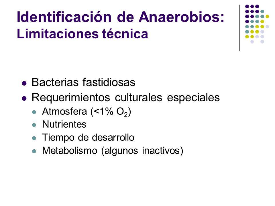 Identificación de Anaerobios: Limitaciones técnica