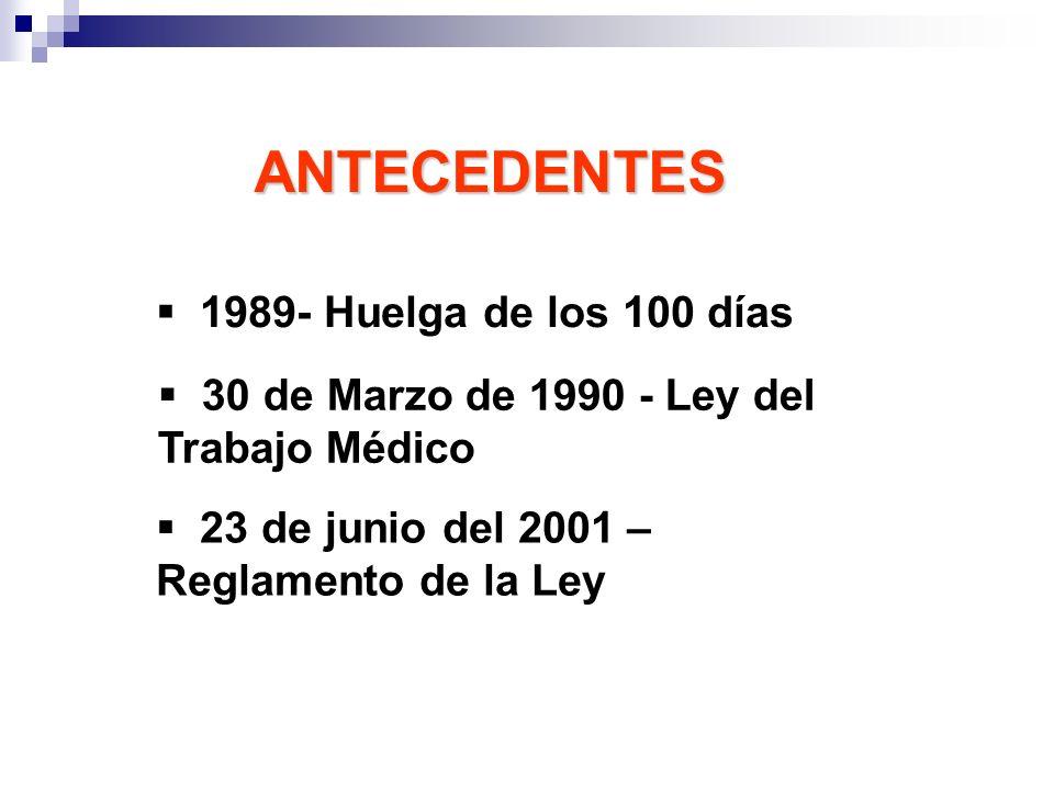 ANTECEDENTES 1989- Huelga de los 100 días