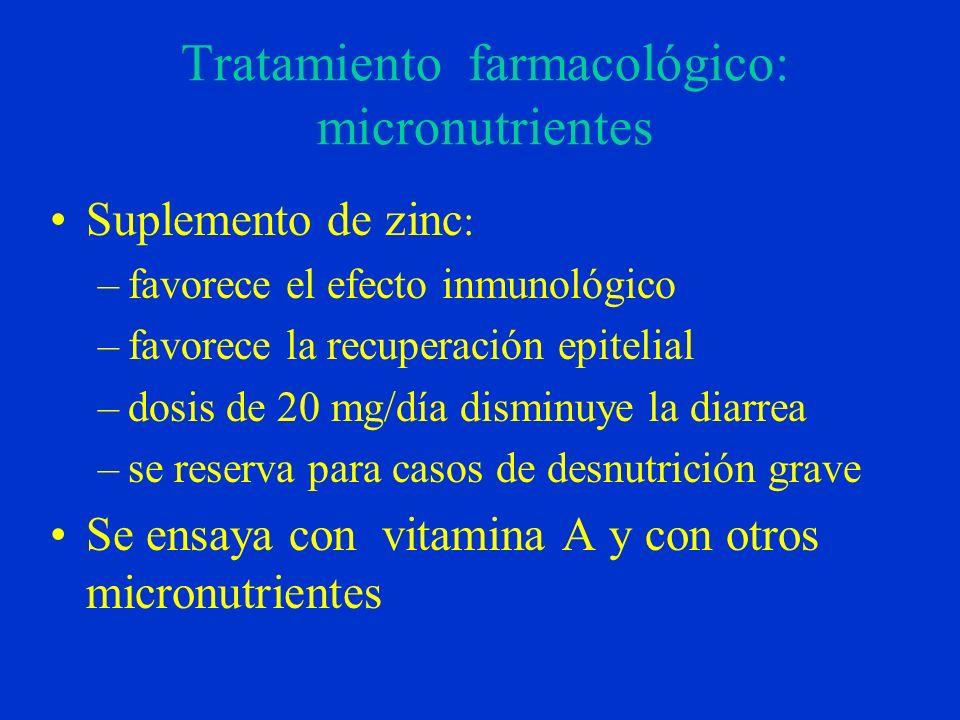 Tratamiento farmacológico: micronutrientes