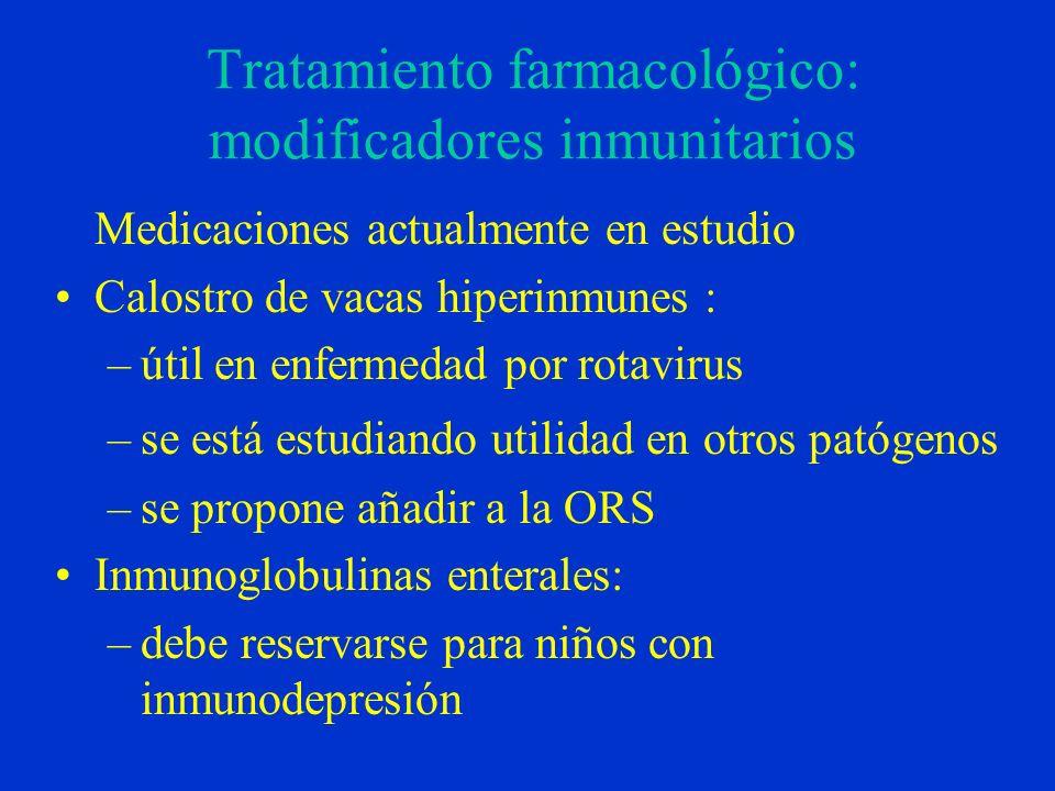 Tratamiento farmacológico: modificadores inmunitarios