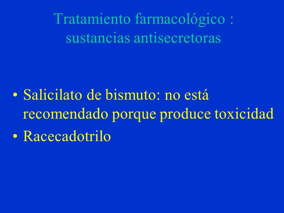 Tratamiento farmacológico : sustancias antisecretoras