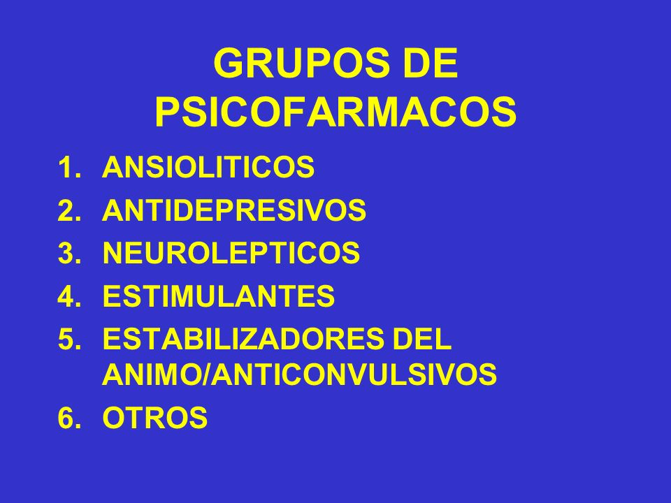 GRUPOS DE PSICOFARMACOS