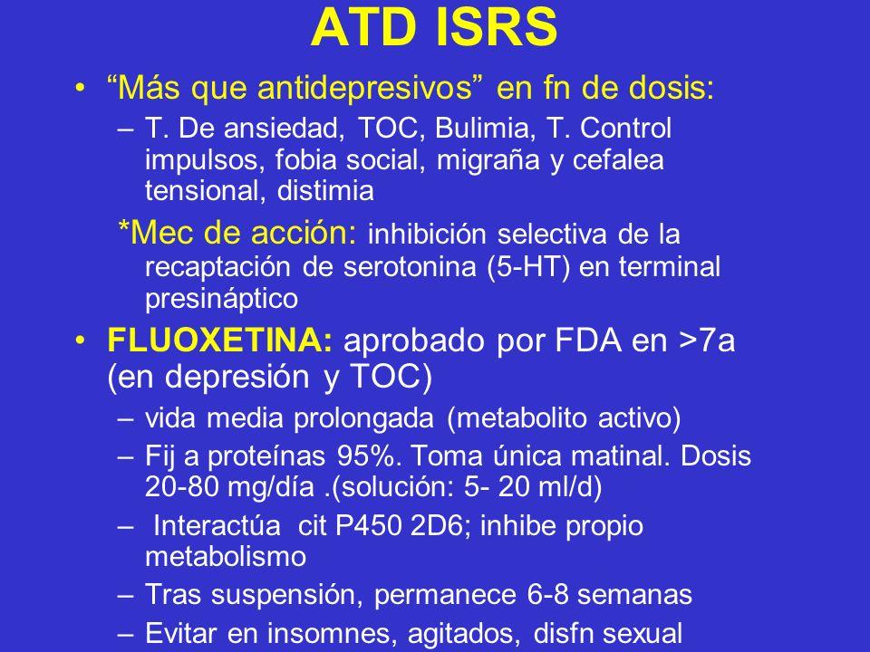 ATD ISRS Más que antidepresivos en fn de dosis: