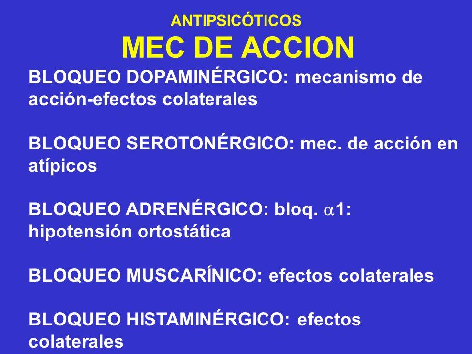 ANTIPSICÓTICOS MEC DE ACCION