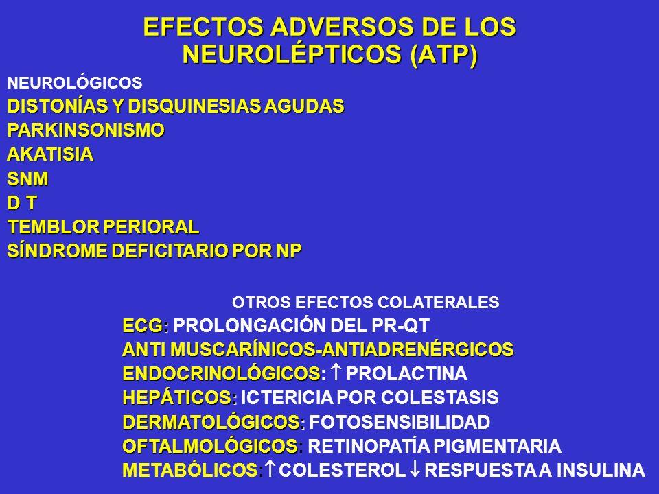 EFECTOS ADVERSOS DE LOS NEUROLÉPTICOS (ATP)