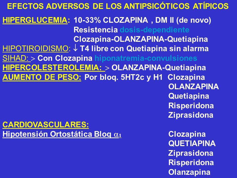 EFECTOS ADVERSOS DE LOS ANTIPSICÓTICOS ATÍPICOS