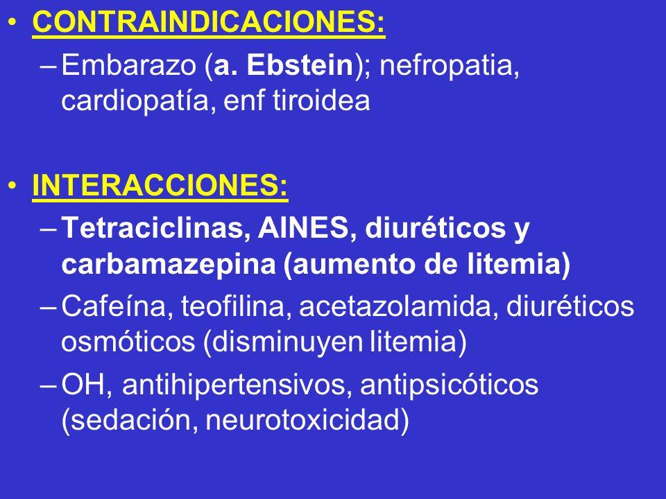 Embarazo (a. Ebstein); nefropatia, cardiopatía, enf tiroidea