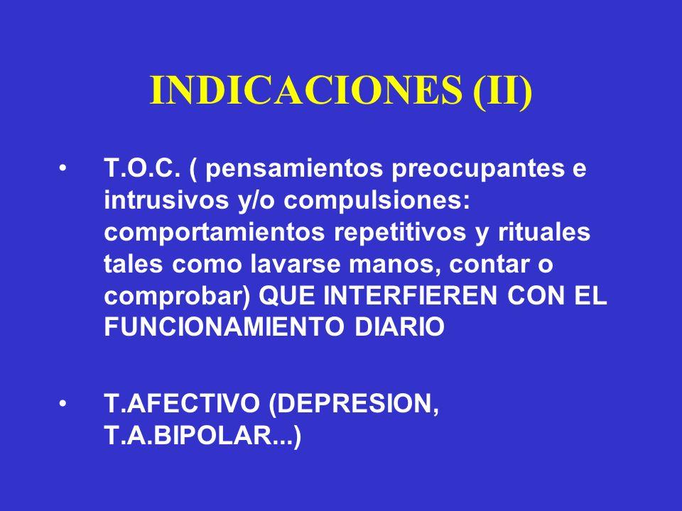 INDICACIONES (II)