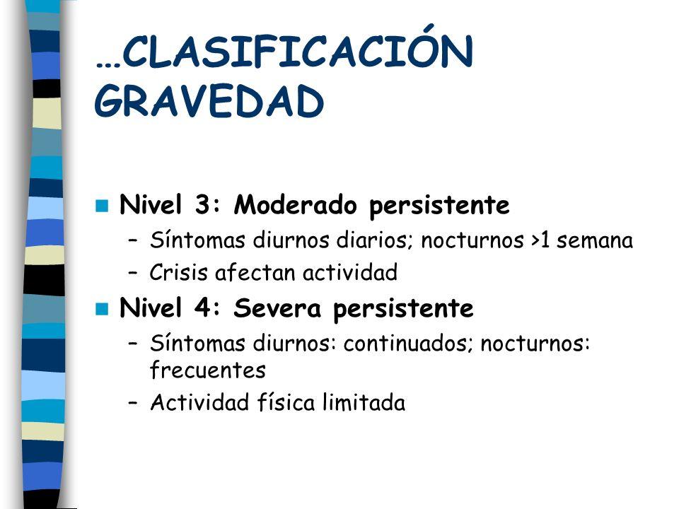 …CLASIFICACIÓN GRAVEDAD