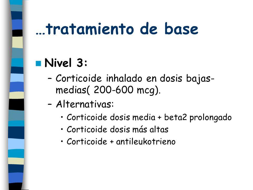 …tratamiento de base Nivel 3:
