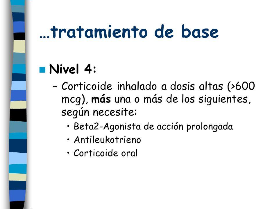 …tratamiento de base Nivel 4: