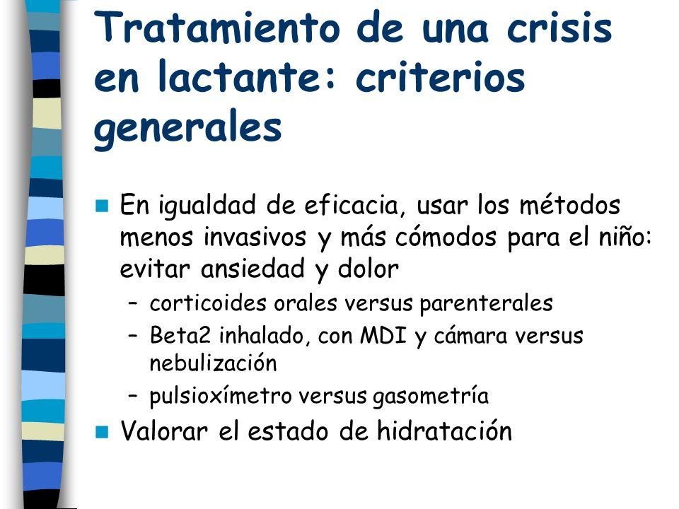 Tratamiento de una crisis en lactante: criterios generales