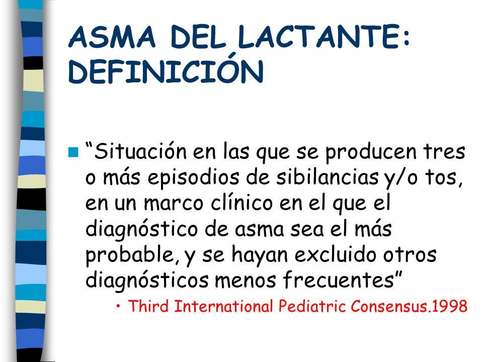 ASMA DEL LACTANTE: DEFINICIÓN