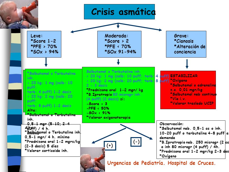 Crisis asmática Urgencias de Pediatría. Hospital de Cruces. Leve:
