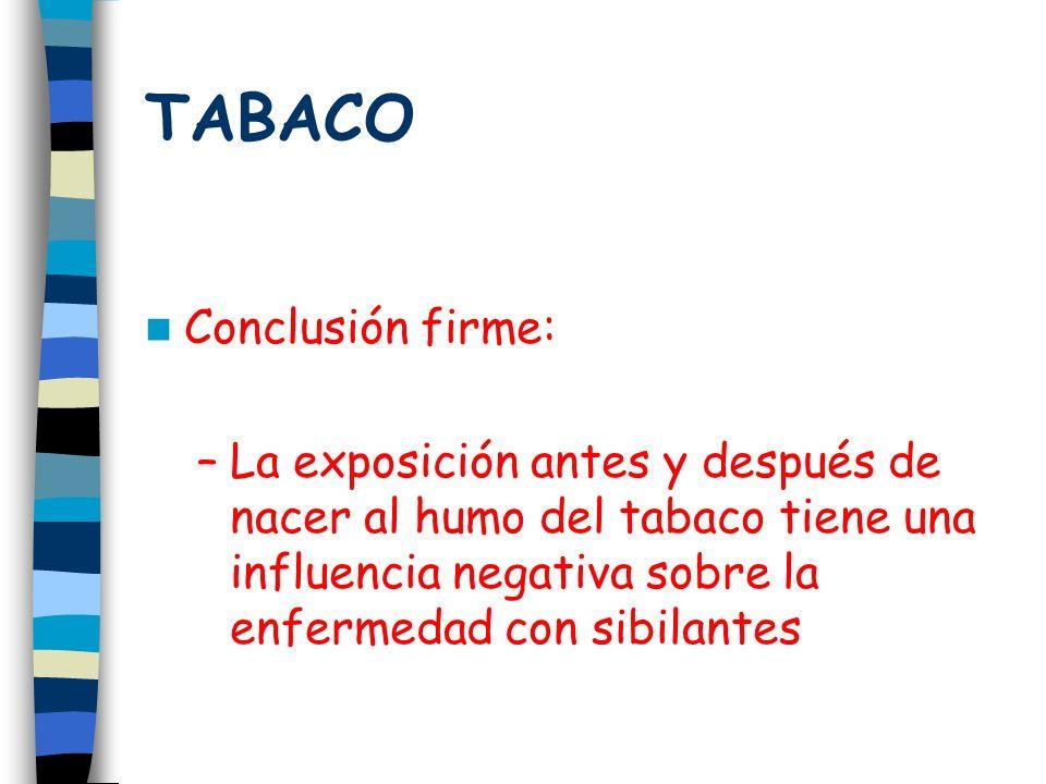 TABACO Conclusión firme: