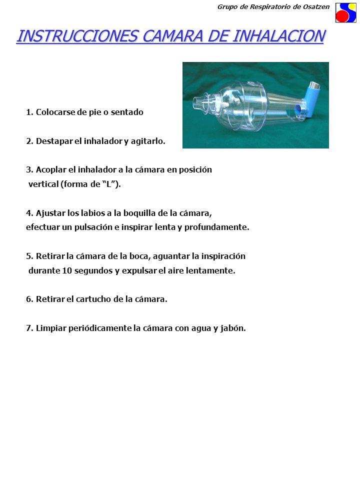 INSTRUCCIONES CAMARA DE INHALACION
