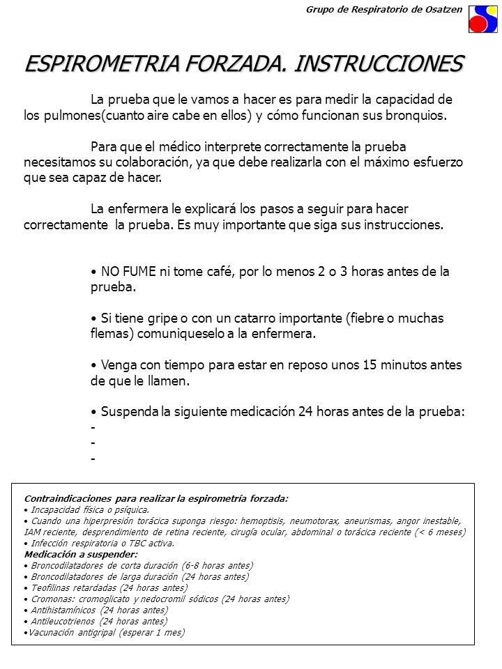 ESPIROMETRIA FORZADA. INSTRUCCIONES