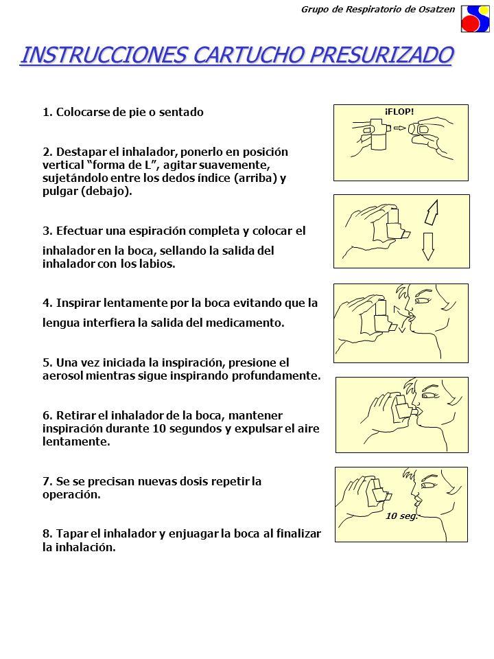 INSTRUCCIONES CARTUCHO PRESURIZADO