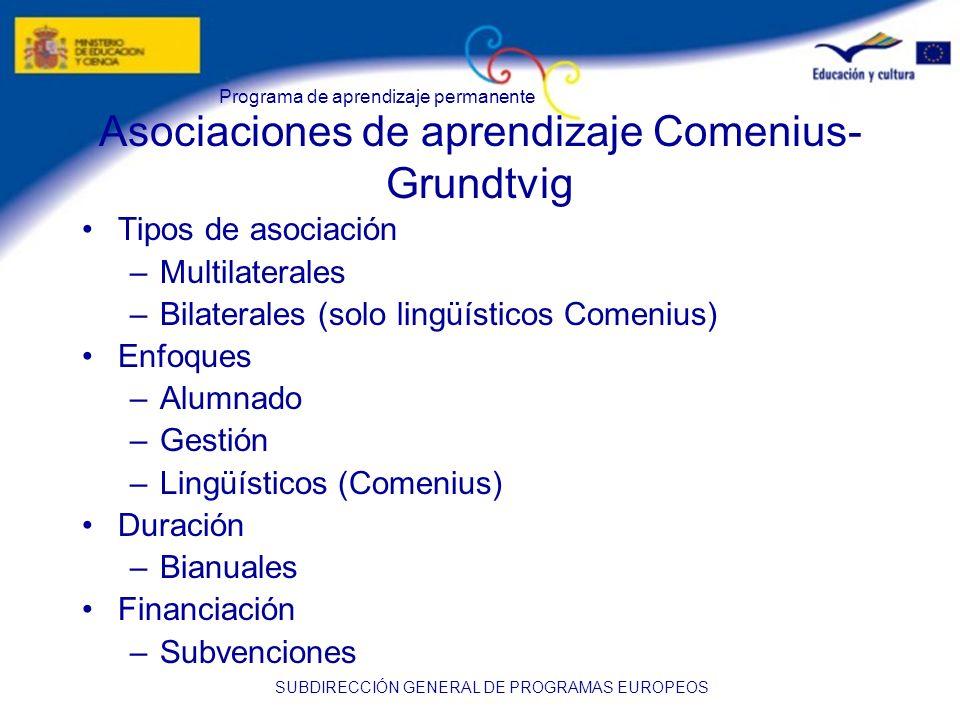 Asociaciones de aprendizaje Comenius-Grundtvig