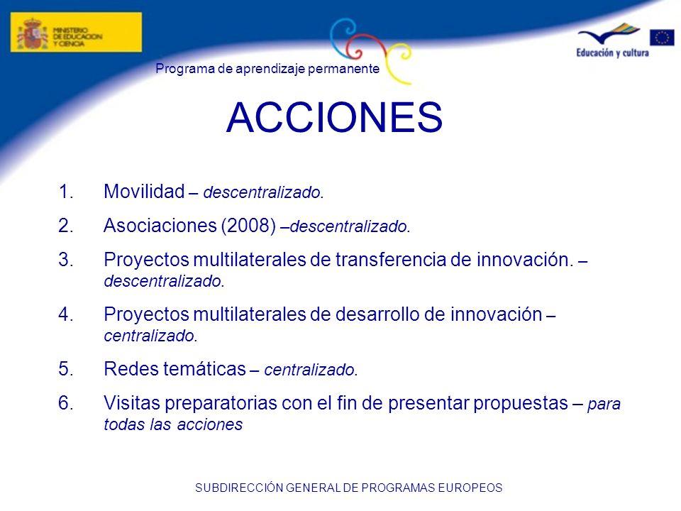 ACCIONES Movilidad – descentralizado.