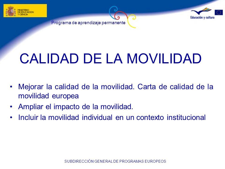 CALIDAD DE LA MOVILIDAD