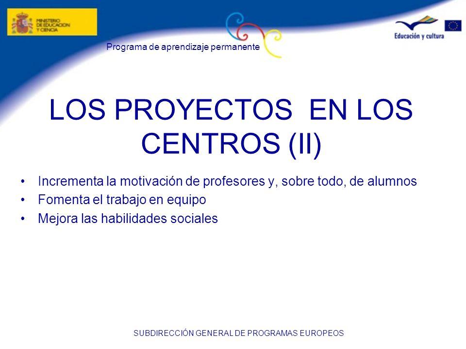 LOS PROYECTOS EN LOS CENTROS (II)