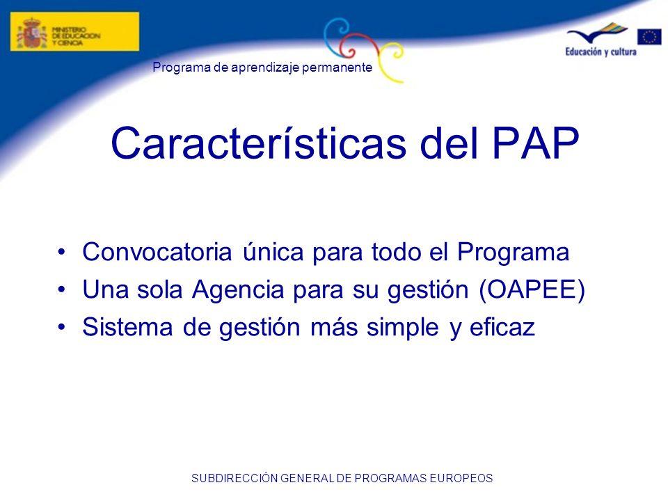 Características del PAP