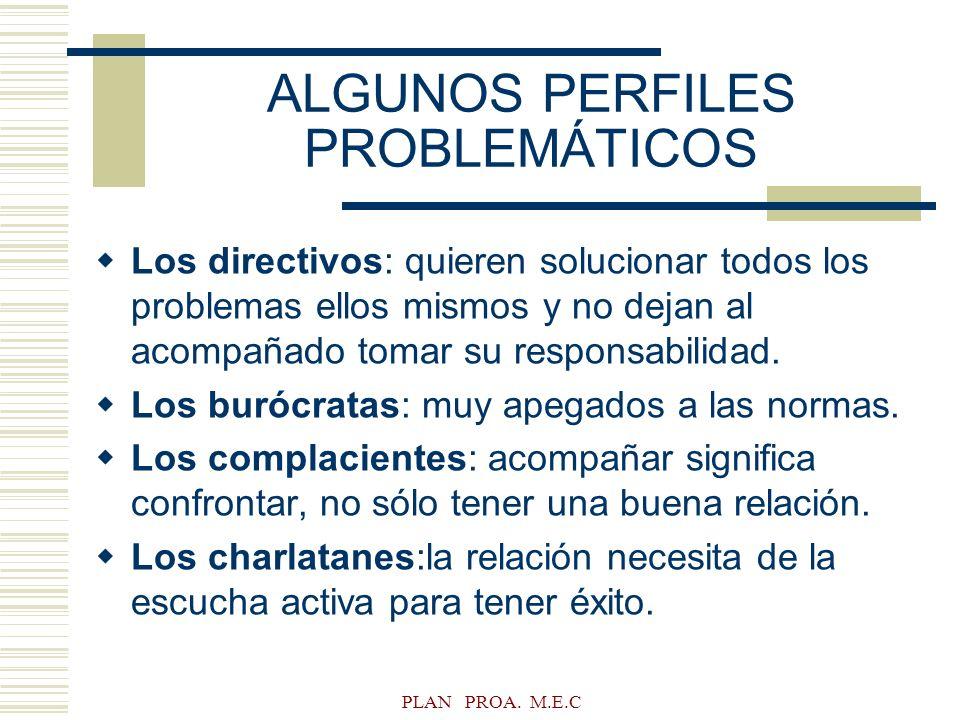 ALGUNOS PERFILES PROBLEMÁTICOS