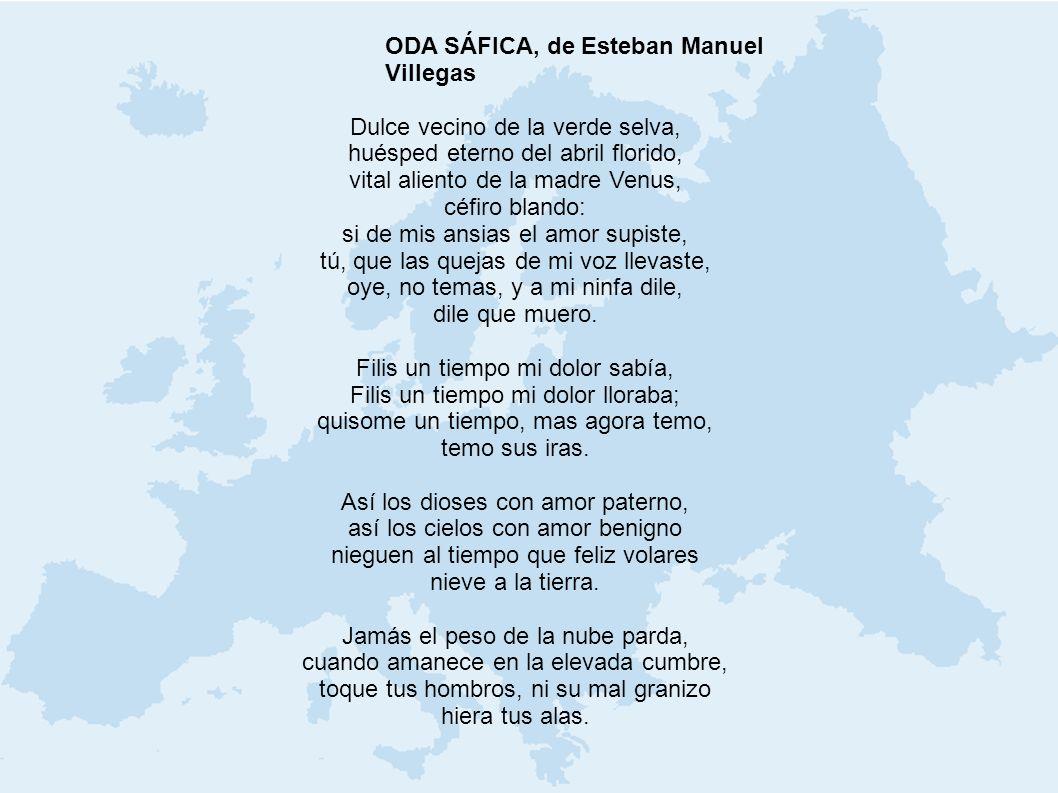 ODA SÁFICA, de Esteban Manuel Villegas